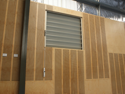adjustable aluminium louvres for commercial buildings
