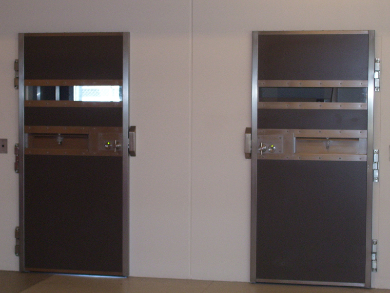 Security doors high door frames