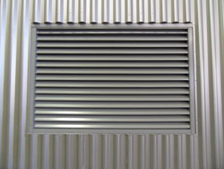 fixed building ventilation panels