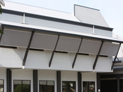screens / sun shades for commercial buildings